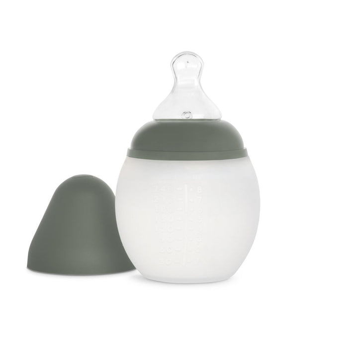 Elhee Silicone Baby Bottle - Khaki (2 Sizes)