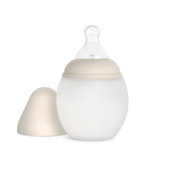 Elhee Silicone Baby Bottle - Sand (2 Sizes)