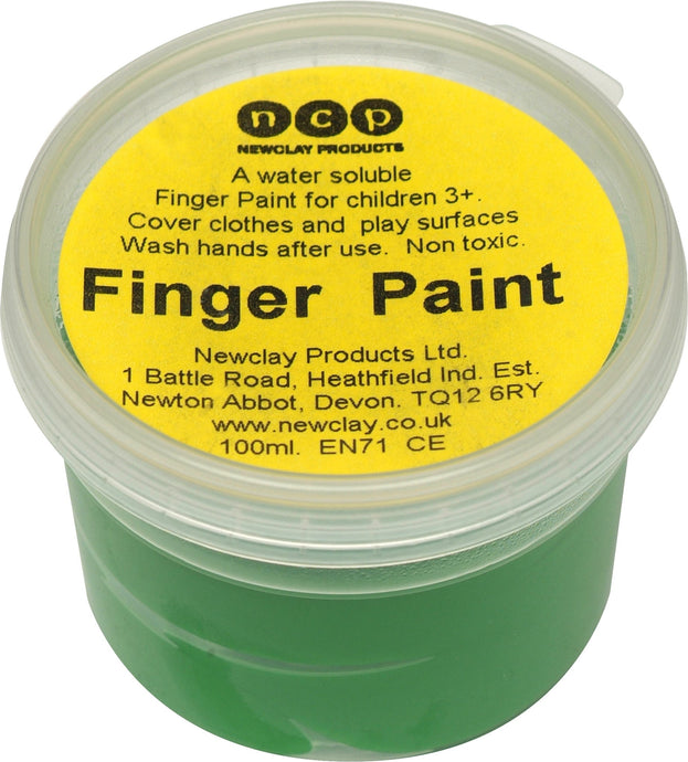Newclay Kid's Finger Paint 100ml Pot - Green | Soren's House