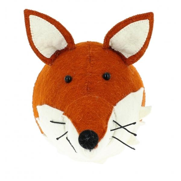Fiona Walker Large Fox With Ruff Felt Animal Wall Head | Soren's House