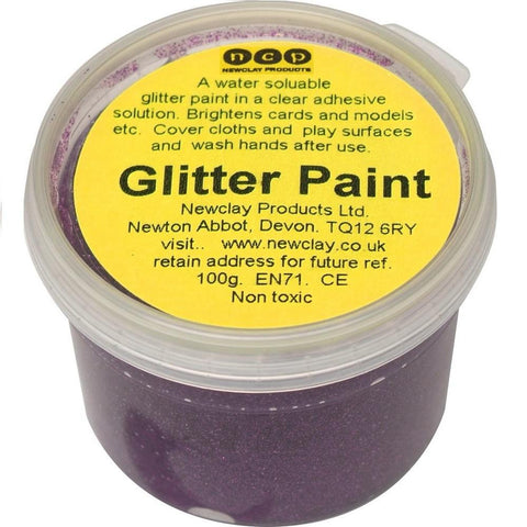 Newclay Glitter Paint 100ml Pot - Purple | Soren's House