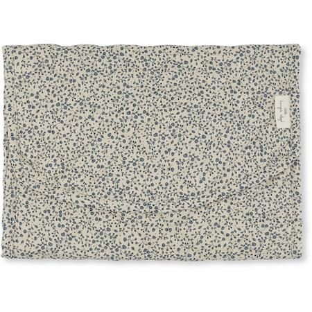 Konges Slojd Organic Portable Changing Mat - Blue Blossom Mist