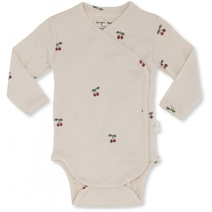 Konges Slojd Newborn Deux Bodysuit - Cherry Blush