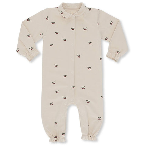 Konges Slojd Organic Onesie With Collar - Cherry Blush