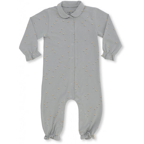 Konges Slojd Organic Onesie With Collar - Mille Marine/French Blue