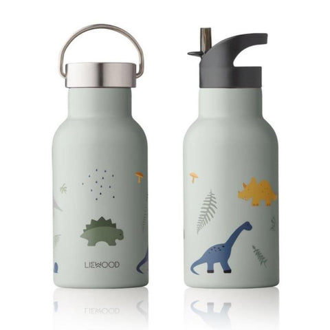 Liewood Anker Steel Water Bottle - Dino Dove Blue Mix