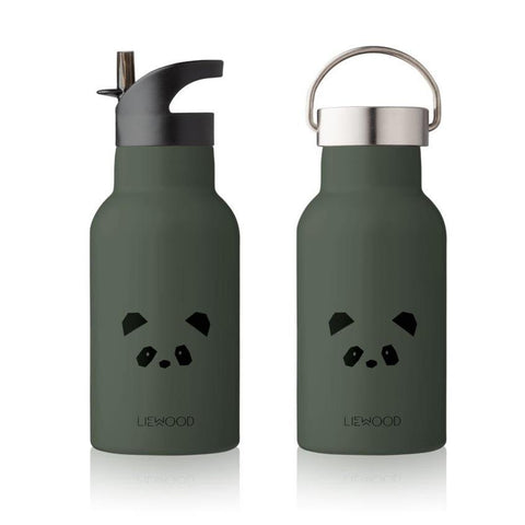 Liewood Anker Steel Water Bottle - Panda Hunter Green