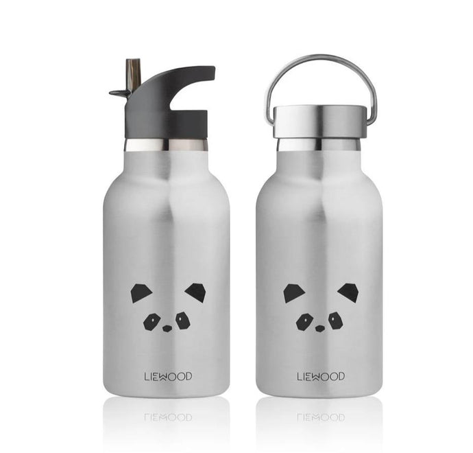 Liewood Anker Steel Water Bottle - Panda Stainless Steel