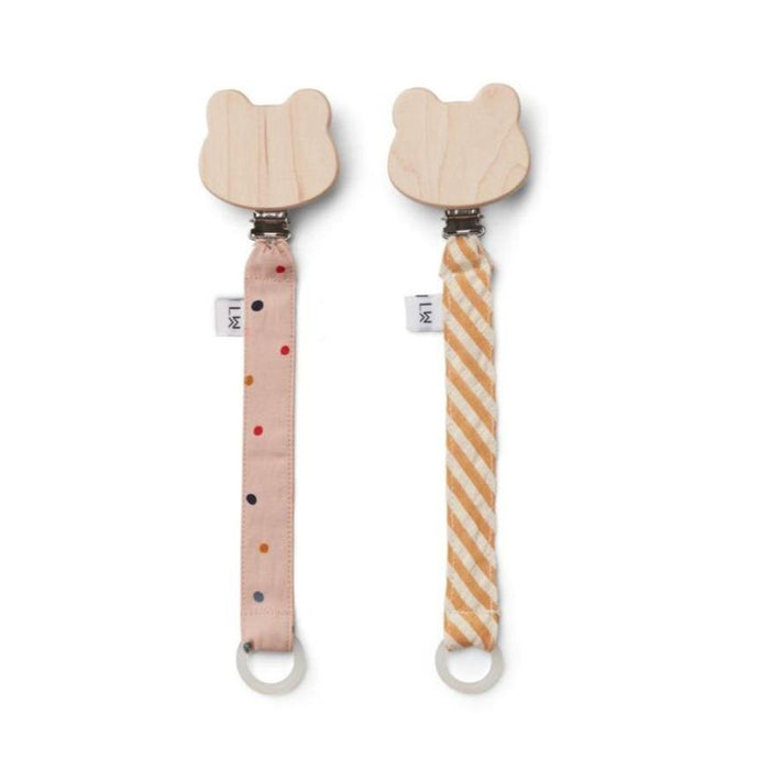 Liewood Sia Pacifier Strap - 2 Pack - Confetti Mix
