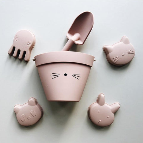 Liewood Dante Silicone Beach Set - Cat Rose