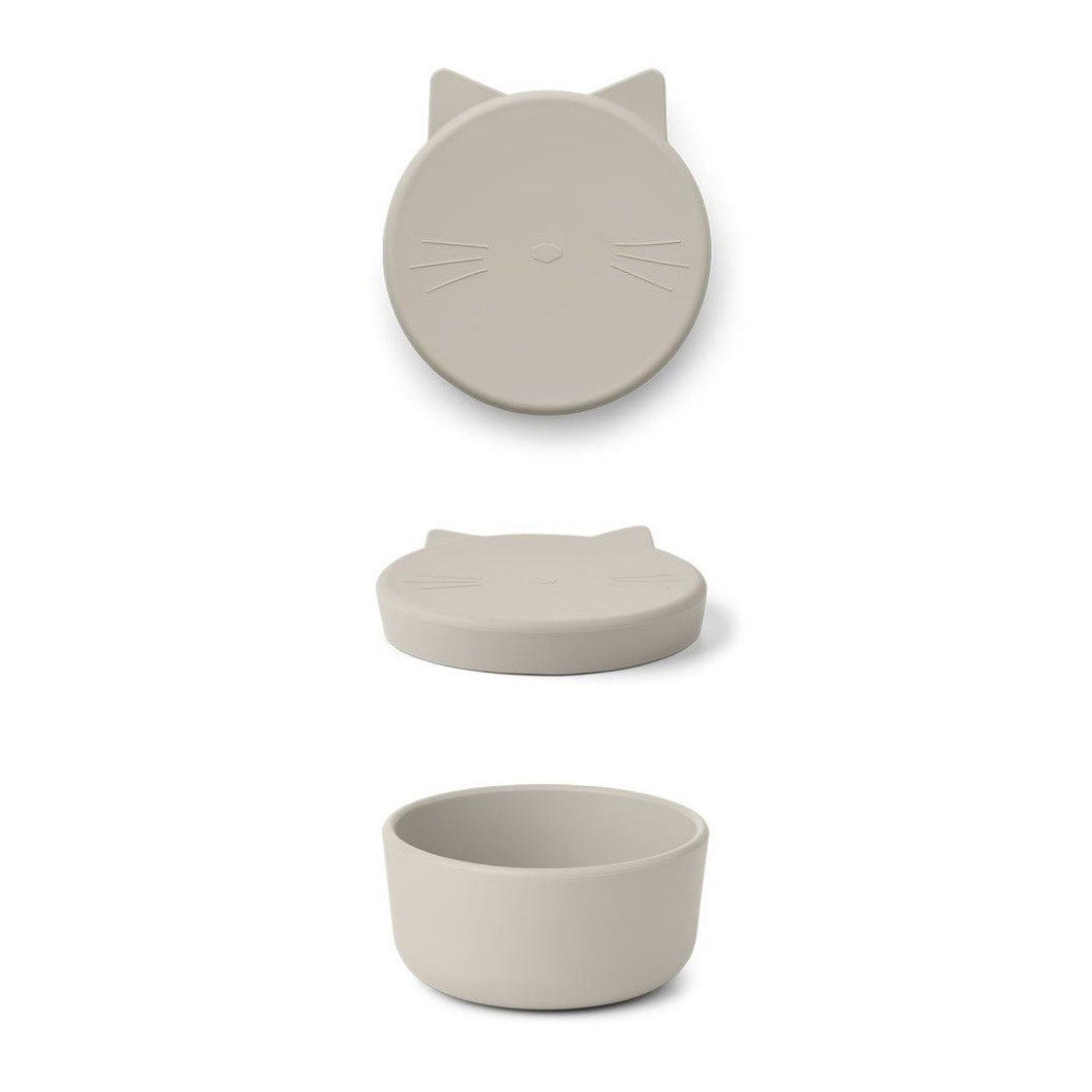 Liewood Cornelius Silicone Snack Box - Cat Sandy