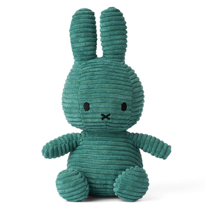 Miffy Corduroy Soft Toy - 24cm Teal Green