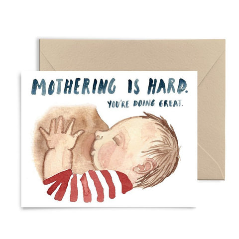 Mothering is Hard Card by Little Truths Studio | Soren's House