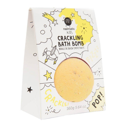 Nailmatic Kids Crackling Bath Bomb - Yellow | Soren's House