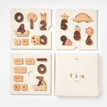 Wooden Numbers Play Blocks by Oioiooi