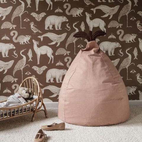 Ferm Living Pear Bean Bag - Dusty Rose