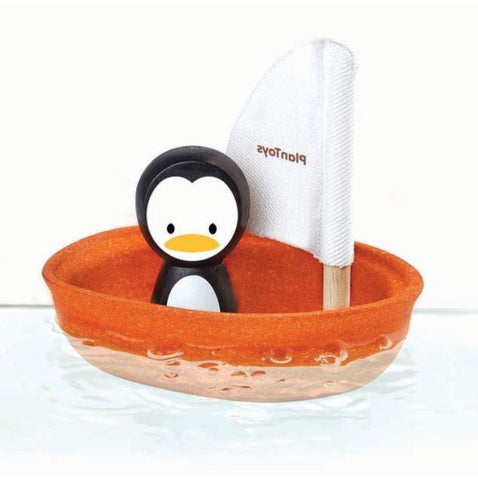 Plan Toys Sailing Boat Bath Toy - Penguin
