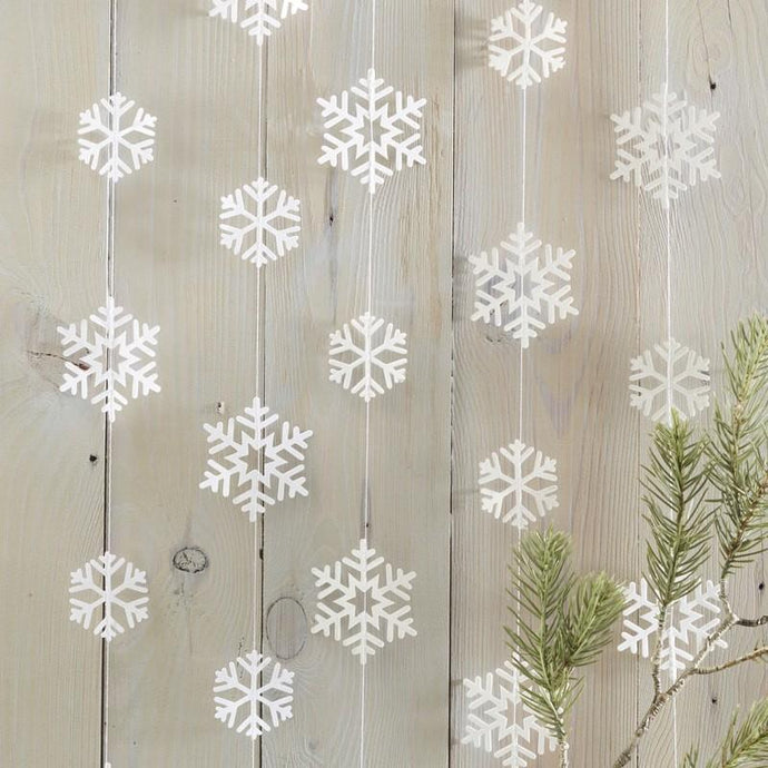 Snowflake Shaped Garland By Ginger Ray