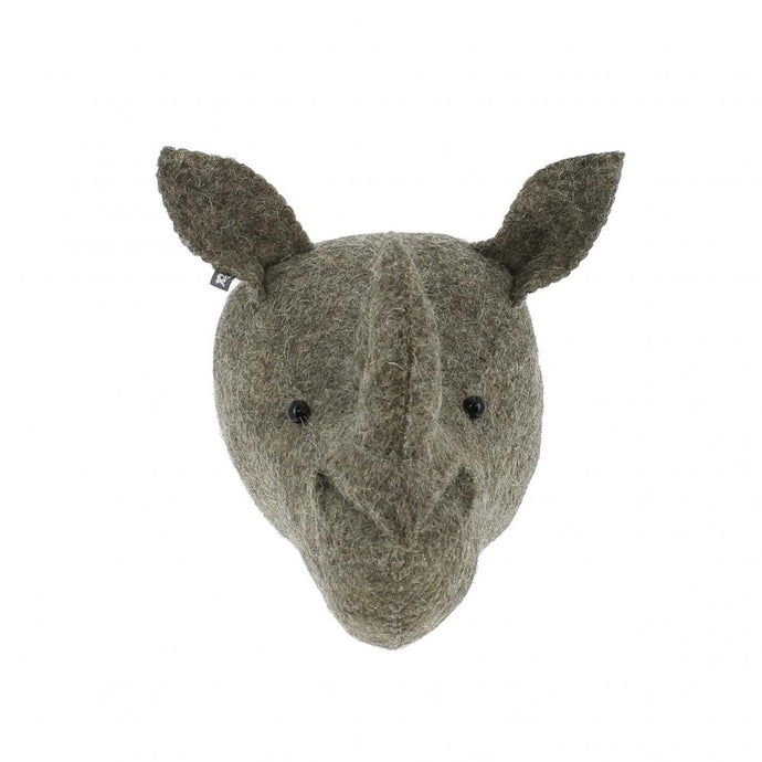 Fiona Walker Rhino Felt Animal Wall Head - Mini