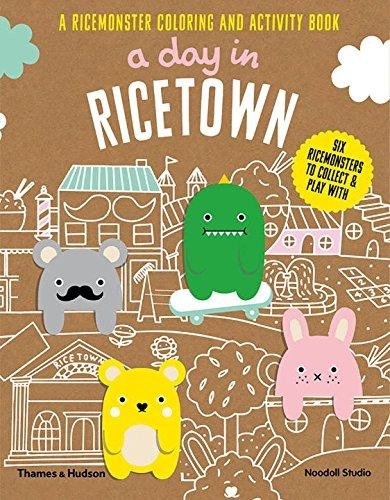 A Day in Ricetown: A Ricemonster Children's Colouring and Activity Book
