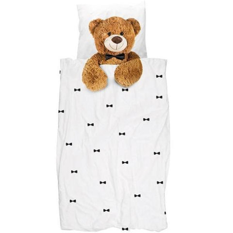 Snurk Teddy Bear Kid's Single Duvet Cover & Pillowcase | Soren's House