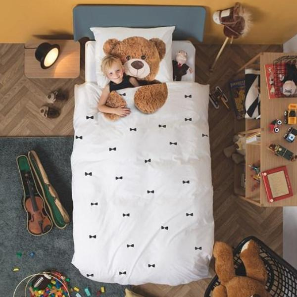 Snurk Teddy Bear Single Duvet Cover and Pillowcase Set