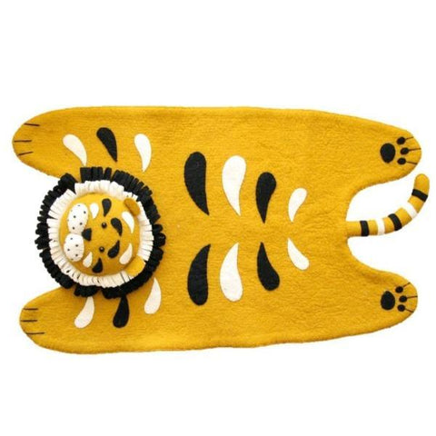Fiona Walker Felt Animal Rug - Tiger | Soren's House