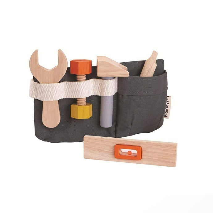 Plan Toys Play Tool Belt with Wooden Tools