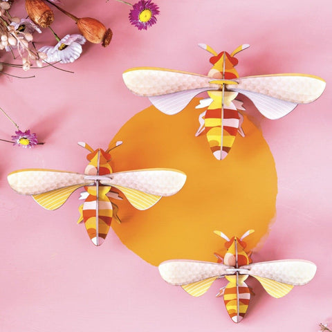Studio Roof 3D Model Wall Decor - Set of 3 Honey Bees
