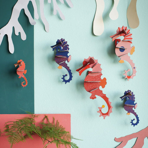 Studio Roof 3D Model Wall Decor - Set of 5 Sea Horses