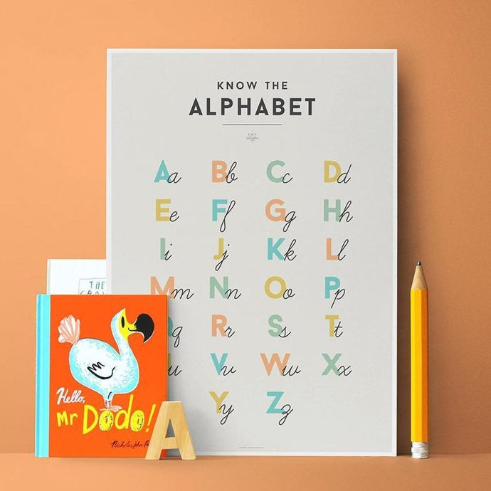 We Are Squared Educational Poster - Alphabet