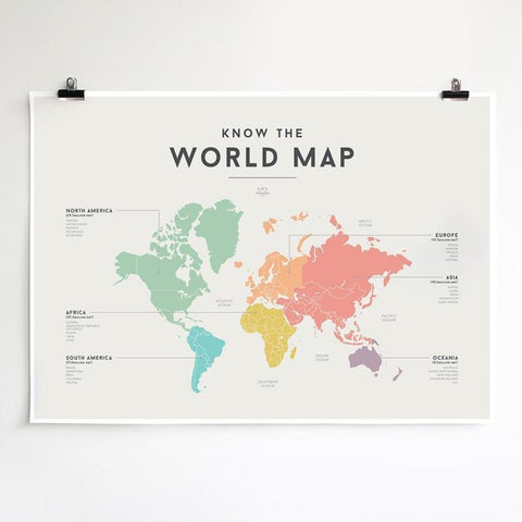 We Are Squared Educational Poster - World Map