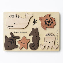 Wee Gallery Wooden Tray Puzzle - Ocean Animals