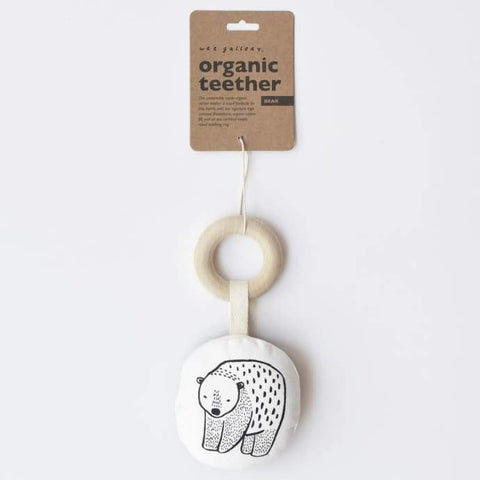 Wee Gallery Organic Teether - Bear