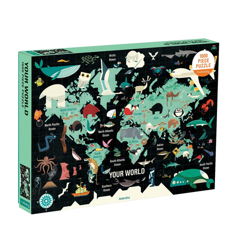 Map Of The World - 1000pc Family Jigsaw Puzzle