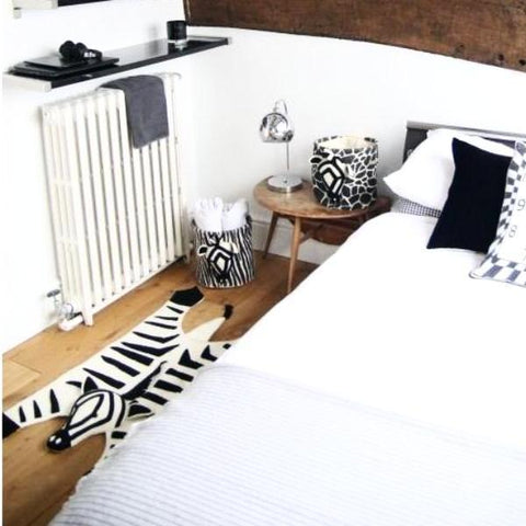 Fiona Walker Felt Animal Rug - Zebra | Soren's House