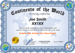 Award Certificate - World Continents