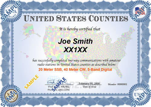 Award Certificate - United States Counties