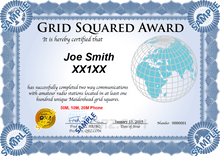 Load image into Gallery viewer, Award Certificate - Grid Squared