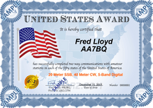 Load image into Gallery viewer, Award Certificate - United States Award