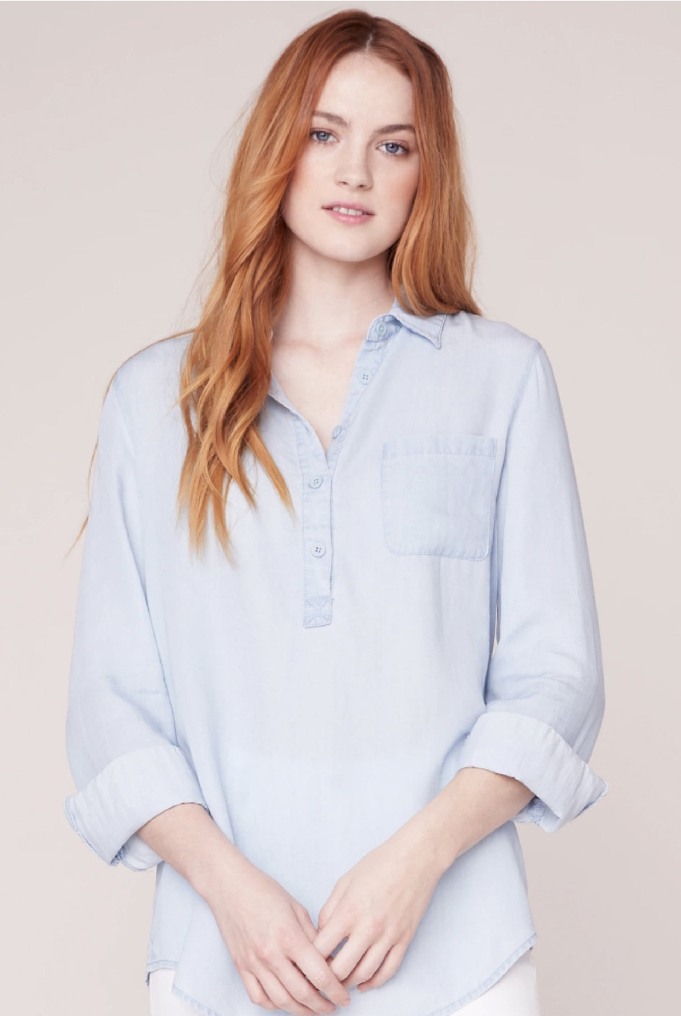 Soft Denim Blouse