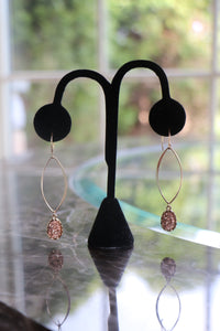 Crystal Rock Tear Drop Earrings