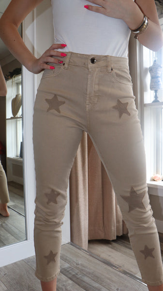 Star Patched Denim