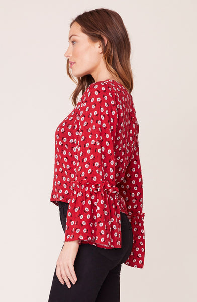 Red Daisy Baby Blouse