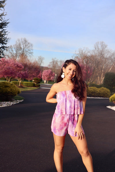 Violet Dream Romper