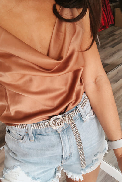 Copper Satin Cami