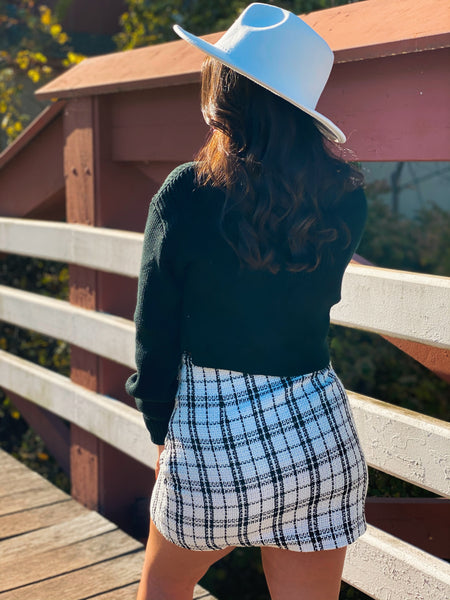 Taylor Tweed Mini Skirt