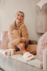 Teddy Bear Sherpa Set