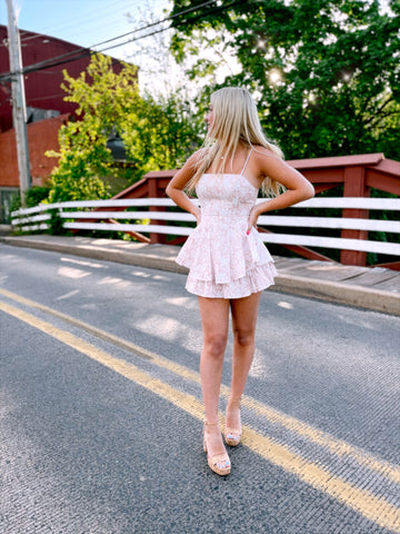 Alessandra Pale Pink Playsuit