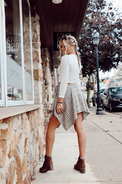 As If Flannel Wrap Skirt
